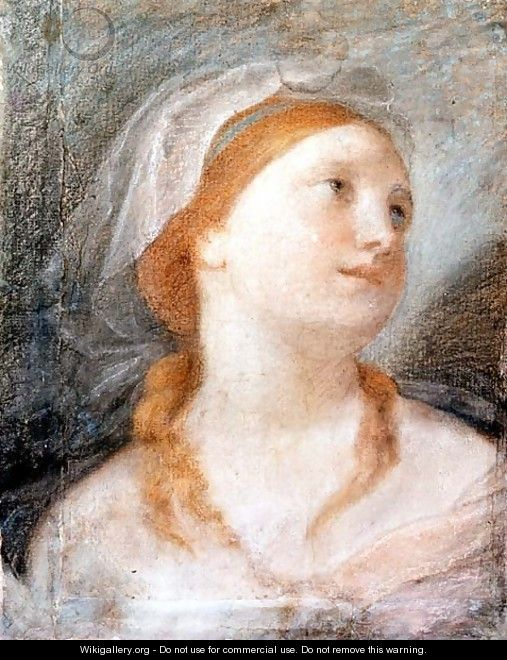 Study of the Head of a Young Woman with Red Hair - Giuseppe Maria Crespi