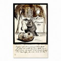 Rossetti Lamenting the Death of His Wombat - Dante Gabriel Rossetti
