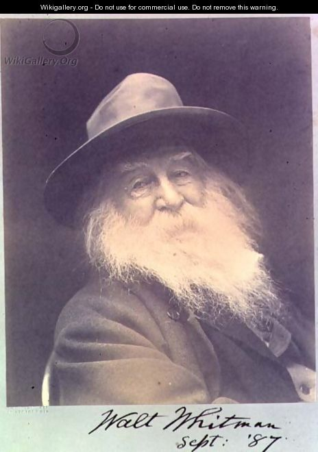 The Laughing Philosopher a portrait of Walt Whitman (1819-91) September 1887 - George C. Cox