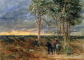 Travellers Approaching a Signpost on a Heath, 1851 - David Cox