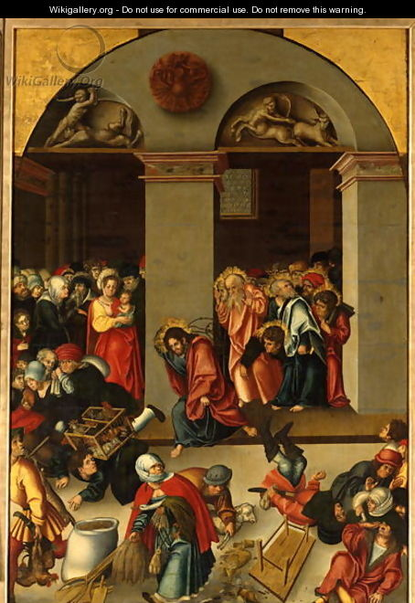The Casting out of the Moneylenders from the Temple - Lucas The Younger Cranach