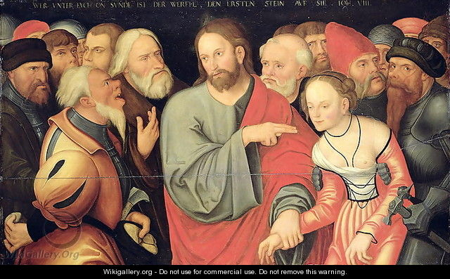 Christ and the Adulteress - Lucas The Younger Cranach