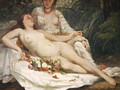Bathers or Two Nude Women, c.1858 - Hanoteau, Hector (1823-1890) and Courbet, Gustave (1819-1877)
