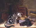Two Cats - Horatio Henry Couldery