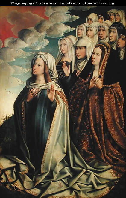Mary the Mediator with Joanna the Mad and her entourage - Colijn de Coter