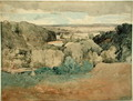Barnard Castle from Towler Hill - John Sell Cotman