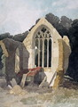 The Refectory at Walsingham Priory - John Sell Cotman