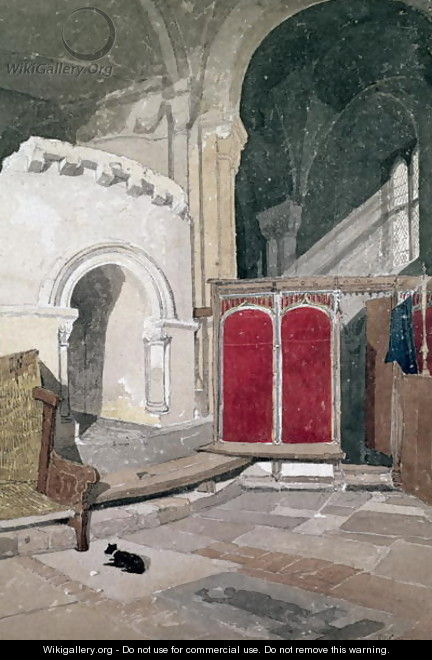 Interior of Norwich Cathedral - John Sell Cotman