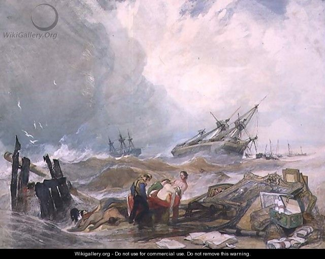 The wreck of the Houghton Hall pictures - John Sell Cotman