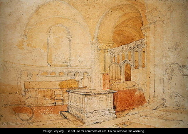 Interior of Norwich Cathedral 2 - John Sell Cotman