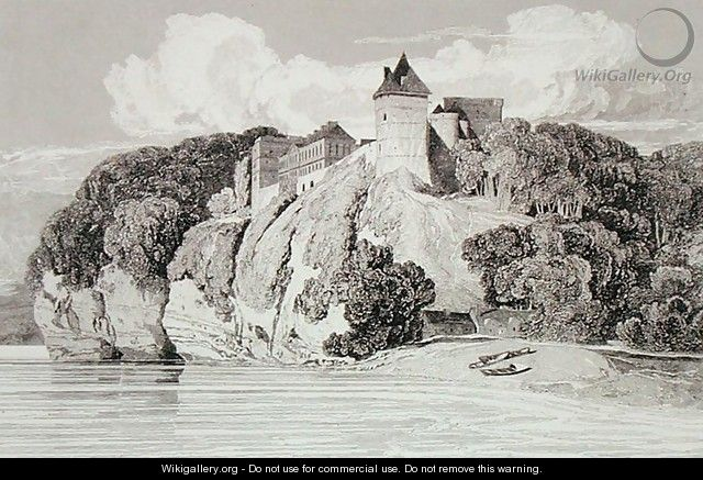 Castle at Tancarville, published 1st October 1821 - John Sell Cotman