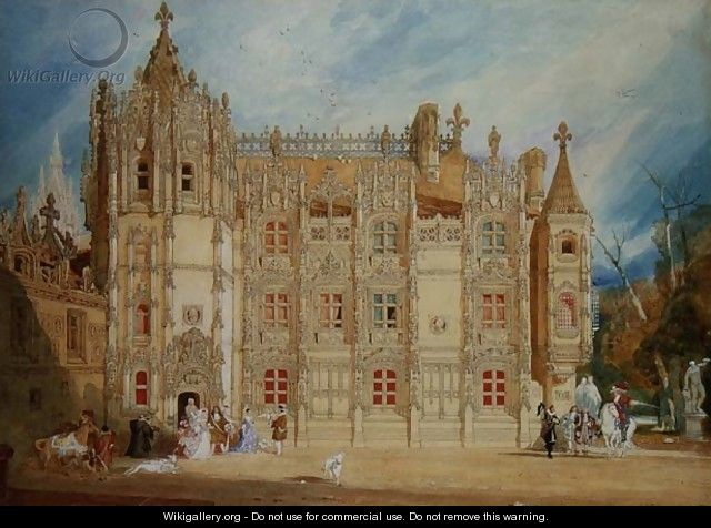 Abbatial House at the Abbey of St. Ouen at Rouen, 1826 - John Sell Cotman