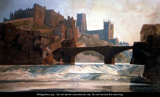 Durham Castle and Cathedral, c.1809-10 - John Sell Cotman