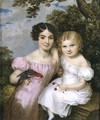 Maria and Fanny FitzHerbert, 1823 - William the Elder Corden