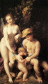 Venus with Mercury and Cupid, The School of Love 1525 - Correggio (Antonio Allegri)