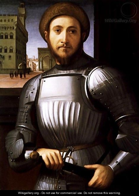 Portrait of a Man in Armour - Piero Di Cosimo