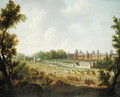 A View of the Royal Palace of Fontainebleau - Hendrik Frans de Cort
