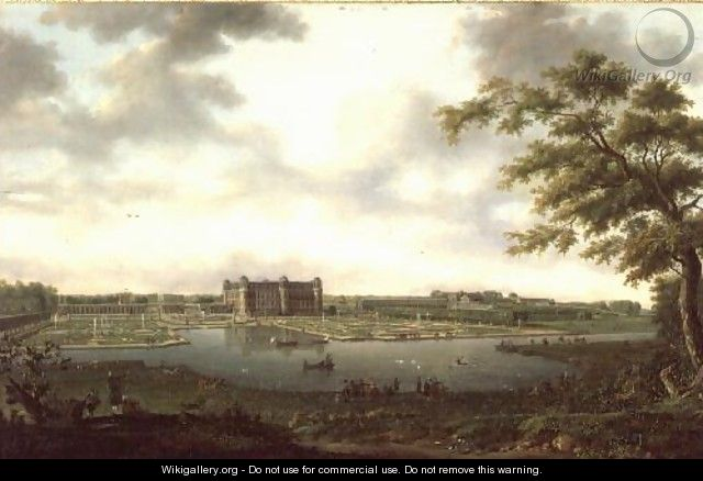 Chantilly in 1781, View from Vertugadin - Hendrik Frans de Cort