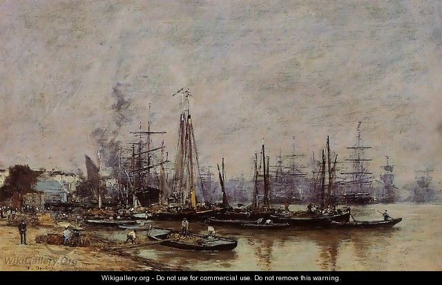 Bordeaux, the Port II - Eugène Boudin