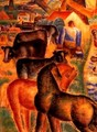 Milking Time on the Farm - Leo Gestel