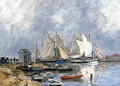Trouville, the Port, Boats and Dinghys - Eugène Boudin
