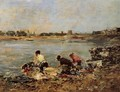 Laundresses on the Banks of the Touques I - Eugène Boudin