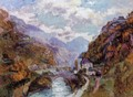 The Rhone at Saint-Maurice, Valais - Albert Lebourg