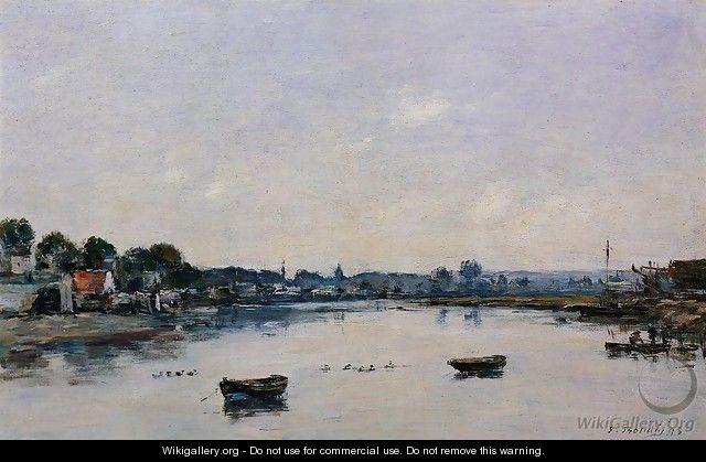The Banks of the Touques - Eugène Boudin