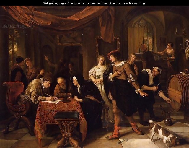 The Wedding of Tobias and Sarah - Jan Steen