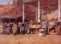 Brussels - the Old Fish Market - Eugène Boudin