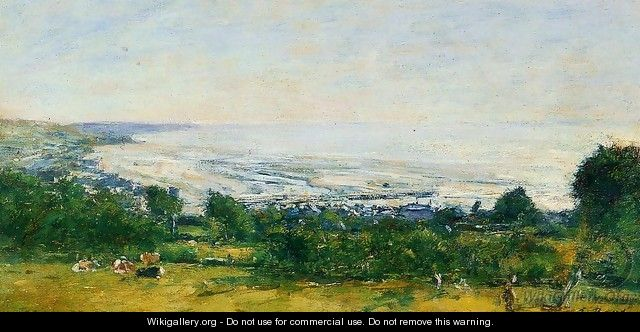The Trouville Heights - Eugène Boudin