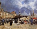 Market at Trouville - Eugène Boudin