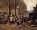 The Fish Market, Rotterdam - Eugène Boudin
