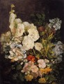 Spray of Flowers - Hollyhocks - Eugène Boudin