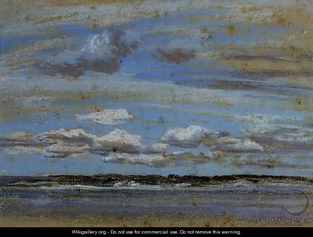 White Clouds over the Estuary - Eugène Boudin