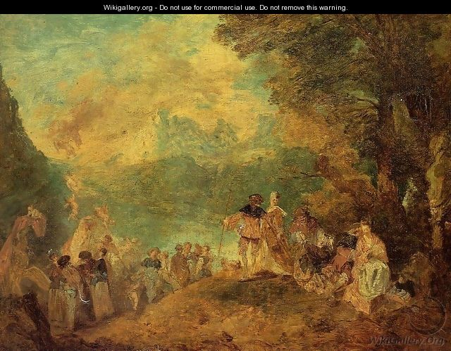 The Pilgrimage to Cythera (after Watteau) - Eugène Boudin