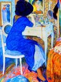 Woman at Makeup Table - Leo Gestel
