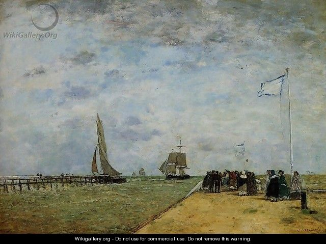 The Trouville Jetty - Eugène Boudin