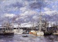 The Vauban Basin at Havre - Eugène Boudin