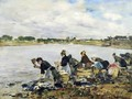 Laundresses on the Banks of the Touques - Eugène Boudin