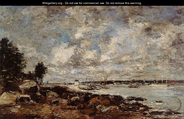 Plougastel, the Ferry Passage - Eugène Boudin