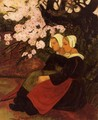 Two Breton Women under a Flowering Apple Tree - Paul Serusier