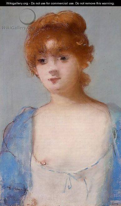 Young Woman in a Negligee - Edouard Manet