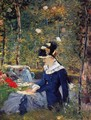 Young Woman in the Garden - Edouard Manet