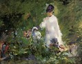 Young Woman among the Flowers - Edouard Manet