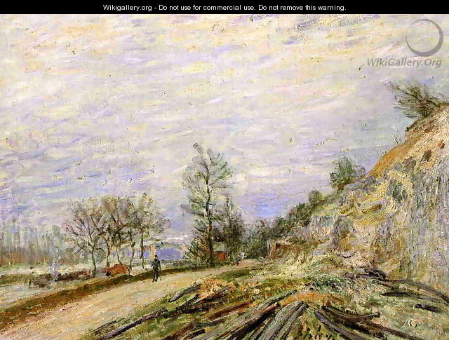 On the Road from Moret - Alfred Sisley