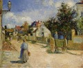 A Street in Pontoise - Camille Pissarro
