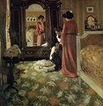 Interior, Bedroom with Two Figures - Felix Edouard Vallotton