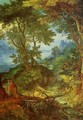 Mountain Landscape with the Temptation of Christ - Jan The Elder Brueghel