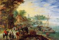 Fish Market on the Banks of the River - Jan The Elder Brueghel